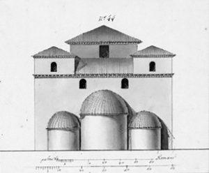 Tavola probabilmente eseguita nel 1781, da anonimo, per conto del Serraux D'Agincourt al fine di inserirla nella sua Historie d'Art. Fu, quindi, eseguita prima dei danni arrecati dall'invasione francese che lasciò la Chiesa in condizioni deplorevoli.