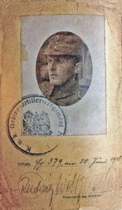 Carta d'identità militare di Ludwig Wittgenstein.