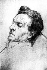 Ritratto di Ludwig Wittgenstein realizzato nel 1925 da Michael Drobil (© Mondadori Portfolio/AKGImages).