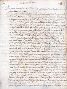 Tav. 1. Montecassino, Archivio dell'Abbazia, notaio Giuseppe Antonio Pacifico di Arpino, Protocollo del 1656, f. 43r.