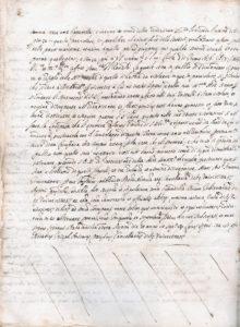 Tav. 2 (sopra) Montecassino, Archivio dell'Abbazia, notaio Giuseppe Antonio Pacifico di Arpino, Protocollo del 1656, f. 43v.