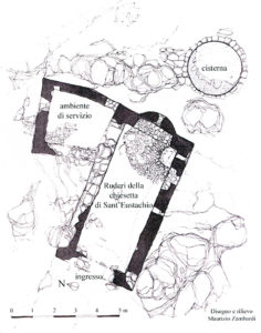 Fig. 3. Pianta dei ruderi della chiesa di Sant'Eustachio.