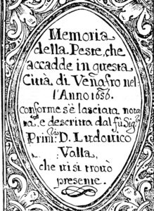 Foto 5: Ludovico Valla e il frontespizio delle sue memorie.