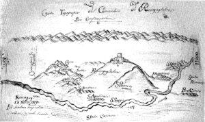 Foto 7: Carta topografica del circondario di Roccaguglielma e territorio limitrofo (Archivio di Stato di Caserta, Circoscrizioni amministrative).