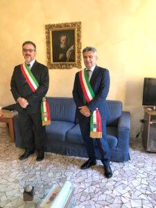 I sindaci Enzo Salera e Marco Pietro Dapiaggi.
