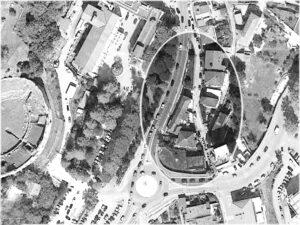 L'area di Via Porta Paldi (cerchiata) negli innesti su Viale Bonomi e su Via G. Di Biasio.