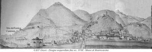 G.B.P. Grossi - Disegno acquarellato fine sec. XVIII - Museo di Montecassino.