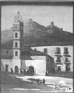 Cassino, piazza Umberto I, anteguerra.