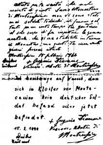 La dichiarazione dell'abate Diamare.
