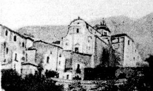 Fig. 1. Chiesa di San Michele Arcangelo di San Pietro Infine, prima della distruzione bellica.
