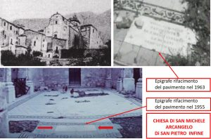 Fig. 2. Immagini relative all'epigrafe posta in ricordo della nuova pavimentazione.